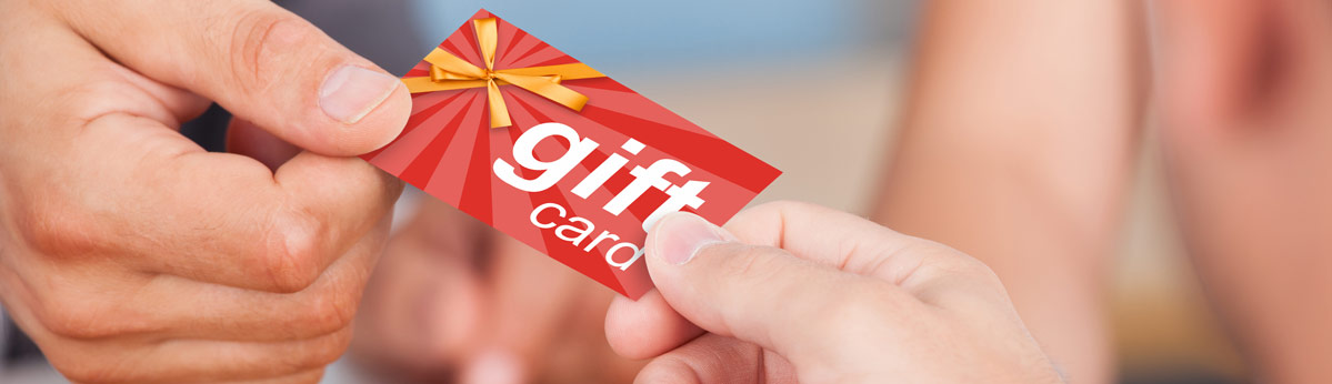 Gift cards available